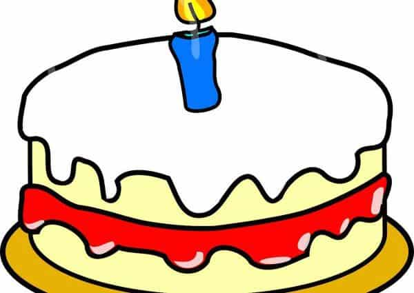 Un an. Un gâteau d'anniversaire avec une bougie.