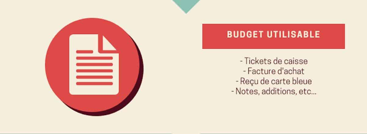 Quels papiers pour faire ses comptes. Budget utilisable