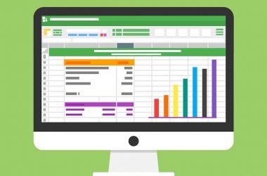 Application budget. Un écran d'ordinateur avec des logiciels ouvert.