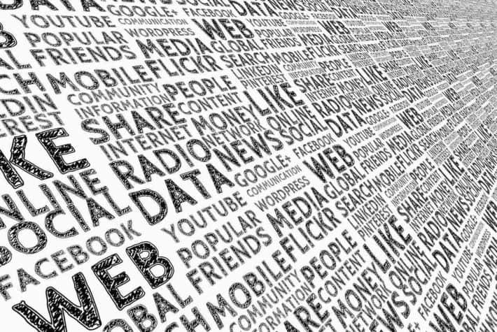 Argent et culture. Une liste de mot liés aux media.