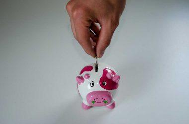 Quelle épargne choisir ? Un petit cochon tirelire où l'on met de la monnaie.