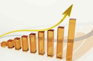 investir c'est quoi. Graphique en colonne avec courbe de croissance.