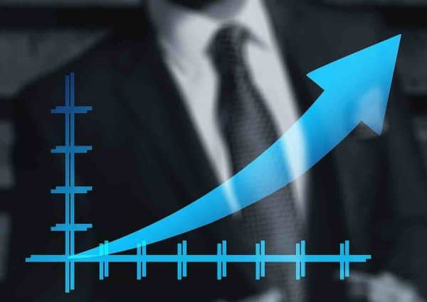 Combien d'actions acheter. Graphe de bourse.